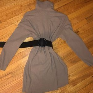 Belted sweater dress size small oversized